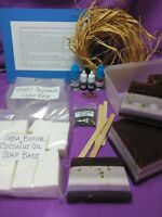 Soap Making Kit Organic Lavender EO Loaf Mold Melt & and Pour Set Makes 2 lbs NM