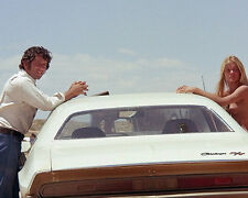 BARRY NEWMAN VANISHING POINT 11X14 PHOTO 1970 DODGE CHALLENGER SEXY GIRL