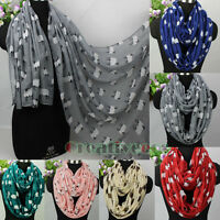 Fashion Women's Sheep Animal Print Long Shawl/Infinity Loop Scarf Ladies Scarves