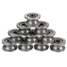 10pcs 624ZZ HCS U Groove Guide Pulley Rail Ball Bearings Wheel 4*13*7MM