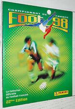 ALBUM VIERGE PANINI FOOT 98 FOOTBALL 1997-1998 FRANCE EMPTY LEER VUOTO NEUF