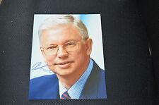 Roland koch signed autógrafo 20x25 cm en persona el primer ministro Hessen