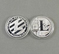 Silver Plated Commemorative Litecoin Collectible Golden Iron Miner Coin Gift /bw