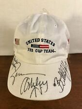 Women's Rare Collectible 2008 Signed Tennis Fed Cup Team Cap (Billy Jean King)