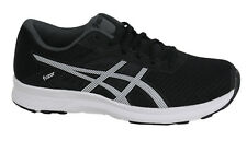 Asics Fuzor Lace Up Black White Synthetic Womens Fitness Trainers T6H9N 9001 D59