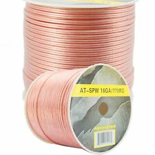 770' ft Roll 16Ga Clear Car & Home Audio Stereo Speaker Wire Cable 18 Gauge AWG