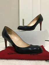 Christian Louboutin Simple Pump 85 - Navy Blue - Patent Leather - Size 40
