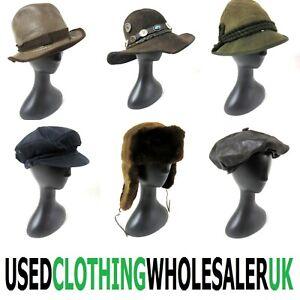50 GRADE B MEN'S VINTAGE HATS TRAPPER PRINCE HENRY CAPS MIXED WHOLESALE JOB LOT