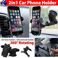 Universal 360° Windshield Mount Car Holder Cradle For GPS Mobile Smart Phone LOT