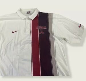 RARE VTG Nike Team Sports Alabama Crimson Tide Golf Shirt XL