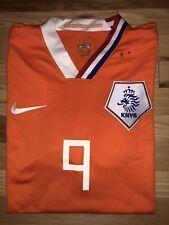 Nike KNVB Netherlands #9 V. Nistelrooy Orange 2006 FIFA World Cup Germany Large