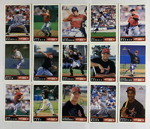 2002 Topps Total (30) Houston Astros Autograph Baseball Cards Bagwell Biggio HOF