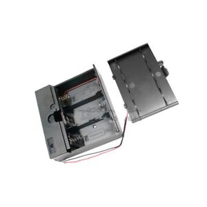 3/4x D Cell Battery Holder Box 4.5V DC Case with Wire Lead Cover Switch ON/OFF