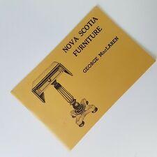 Nova Scotia Furniture George MacLaren Book Booklet 1st Edition 5th Printing 1978