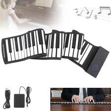 88 Keys USB MIDI Roll Up Piano Electronic Silicone Flexible Keyboard Organ