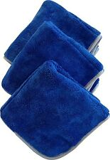 "3 Pack - Microfiber Towel 1100 GSM Ultra Plush 16"" x 16"" Detailing  T1100BS-3"