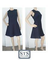 Sail to Sable Blue Sleeveless Dress Nubby Navy $258 Retail NWT