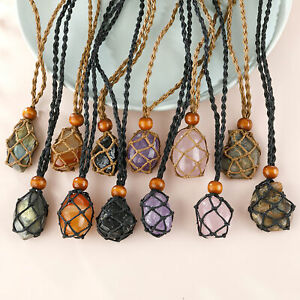 RETRO NECKLACE CORD BRAIDED DIY CRYSTAL ROPE ADJUSTABLE REPLACEMENT PENDANT CAGE