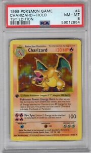 1ST 🔥 FIRST EDITION SHADOWLESS 🔥 CHARIZARD 4/102 PSA 8 NM-MT POKEMON CARD 🔥