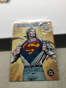 1993 DC BLOODLINES EMBOSSED FOIL THE ONE TRUE SUPERMAN
