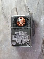 "Zippo  ""HARLEY  DAVIDSON""  with SKULL  - NEU & ovp - #506"