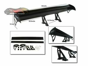 GT Wing Type S Racing Aluminum Adjustable Rear Spoiler BLACK For Mercedes Benz 1