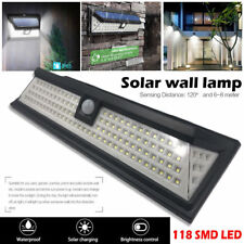 118led Solar Power PIR Motion Sensor Wall Light Outdoor Garden Lamp Waterproof