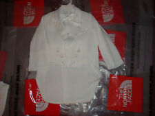 New Toddler Boys Christening Baptism Wedding White Suit 5 Piece Tuxedo Outfit 6T