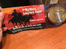Marlboro Buckle, NIB, LONGHORN, Solid Brass, 3 sold individually,VTG BUCKLE