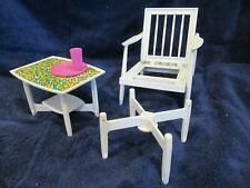 1963 - Barbie - vintage Go Together Furniture - chair , ottoman , end table 0409