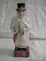 "RARE ANTIQUE GERMAN PORCELAIN FIGURAL ""WATCHMAN"" HIDDEN MATCH HOLDER & STRIKER"