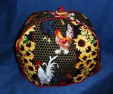 *New* Handmade Country Farm Roosters Sunflowers Theme 2-Slot Slice Toaster Cover