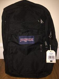 JanSport Genuine Big Student Black Unisex Backpack Black- New with Tags
