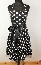 Womens 1950s 60s Vintage Style Halter Rockabilly Evening Prom Polka Dot Dress 12
