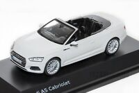 Audi A5 Cabriolet in White, official Audi dealership model, 1:43 scale, car gift