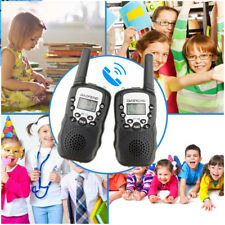 2 x BF-T3 for Kids Gifts UHF Walkie Talkie LCD Flashlight 2-Way Radio US