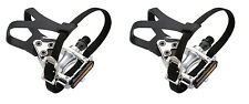 Wellgo Alloy Road Bike Pedals WIth Toeclips & Straps