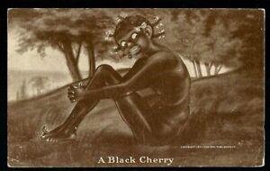 "Vintage 1913 Picture Postcard ""A Black Cherry"" - Unused"