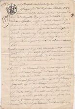 * 1822-1841 DOCUMENT IN ITALIAN 3 CACHETS - FIRENZE - ITALIAN STATES - 8 SIDES
