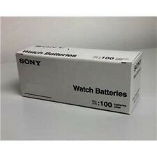 Box of100 NEW SONY 377 SR626SW SR66 V377 1.55V watch batteries---FRESH Exp 07/22