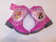 Disney Princess Pink Cowboy Boots Toddler Girl Sizes 6 7