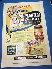 Planters Peanut Advertising  (1947) Featuring A Coloring Book offer and Products