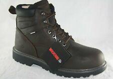 Wolverine Men's Floorhand Steel Toe Waterproof Work Boots W10633 DARK BROWN