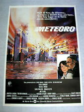 METEOR Original NEW YORK Movie Poster SEAN CONNERY NATALIE WOOD HENRY FONDA