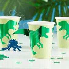 Dinosaur Party Cups Kids Childrens Birthday Party Tableware Supplies Dino - Pk 8