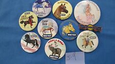 10 Breyer Horses Collector Pins Buttons All Different MINT Free Shipping