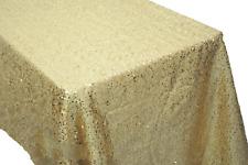 Sequin Rectangular Tablecloth Sequin Taffeta Fabric Sequin Table Cover - GOLD
