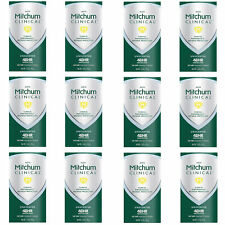 12 Mitchum Men Clinical Soft Solid Antiperspirant Deodorant Unscented 1.6 Ounce