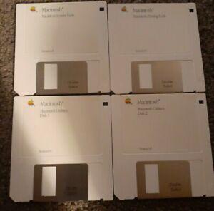 """Macintosh System Software 6.0 1988 Original 3.5"""" Disks Very Rare Complete Set"""