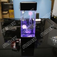 Jellyfish Volcano Water Aquarium Tank LED Light Relaxing Bedside Mood Lamp Home
